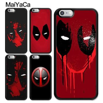 MaiYaCa Deadpool Marvel Superhero Soft TPU Skin Mobile Phone Case Funda For iPhone 6 6S Plus 7 8 Plus X 5 5S SE Back Cover Shell