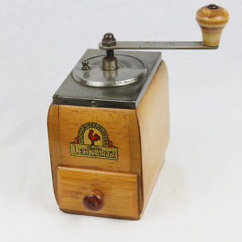 Vintage 1950's German C.A. Lehnartz Coffee Mill, Coffee Grinder