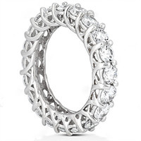 Gorgeous diamonds 3 Ct. eternity wedding band women's