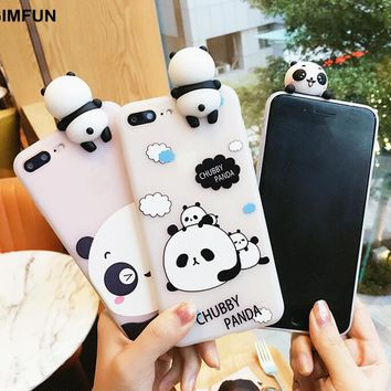 GIMFUN Cute 3d Cartoon Phone Case for  IPhone 6 6s 6plus 7 7plus Mobile Phone Shell Soft Tpu Lying on The Animal Back Cover