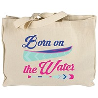 Summer Sun Born on the Water Canvas Tote Bag