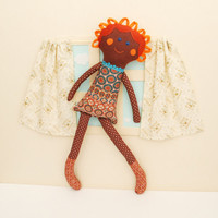 Ethnic Rag Doll, Textile Doll, Handmade Rag Doll, Small Gift for a Little Girl, Stuffed Doll, Soft Toys, Gift for Girl