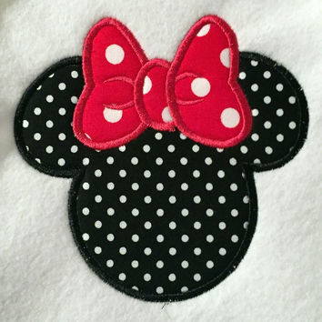 Disney Minnie Mouse Appliqued T Shirt Available from 12m to 14/16