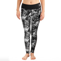 Oakland Raiders Women's Thematic Print Leggings – Black