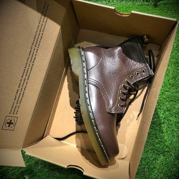 Best Online Sale Newest Dr. Martens Modern Classics 1460 Retro Brown Leather Boots 524952