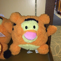 """disney parks authentic 7"""" tigger soft round plush pillow new with tags"""