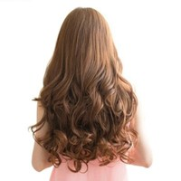 "Zehui 29"" Women Long Curly Wavy 6 Clips In On Hair Extensions Full Head Top"