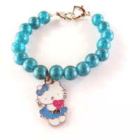 Blue hello kitty bracelet