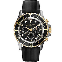 Michael Kors Men's Black Silicone Strap Chronograph Watch