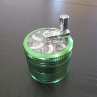 new solid green color tobacco grinder for all pipe smokers with free