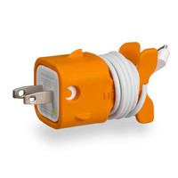 ORANGE FISHY IPHONE CHARGER <3