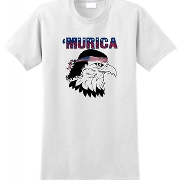 'Murica Bald Eagle With Mullet Bandana Funny Shirt