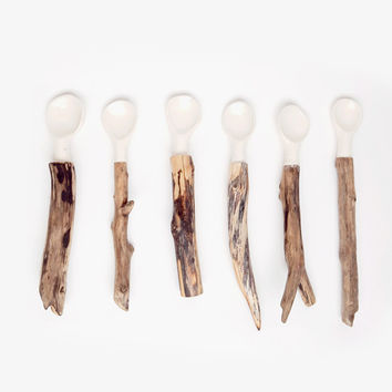 Linda Fahey Driftwood Utensils for Poketo