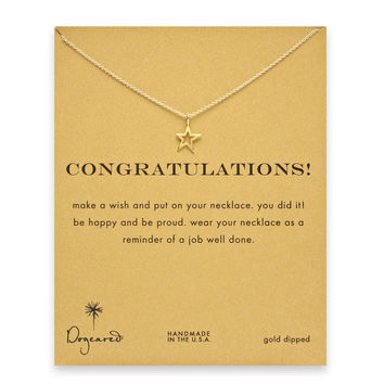 Dogeared Congratulations Celestial Star Necklace, Gold 16 inch