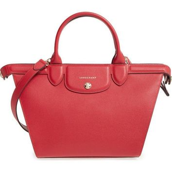 Longchamp Le Pliage - Heritage Leather Satchel