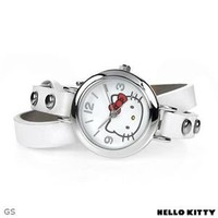 Brand New HELLO KITTY H3WL1002NONNF-WT Leather Ladies Watch - Hello Kitty Watches - Modnique.com