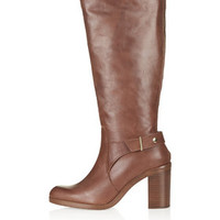 CASH Knee High Boots - Tan