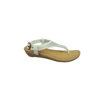 Dr. Scholl's Women's Lush Sandals, 6.5, White/Brown
