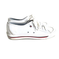 90's Tommy Hilfiger White Tennis Shoes Womens Size 8