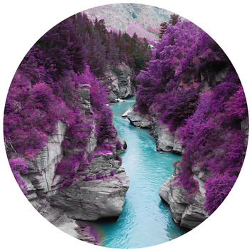 Fairy Pool of Scotland Circle Wall Decal