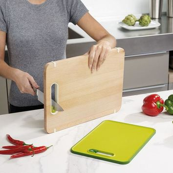 Multi Functioned Pottery Knife Wooden Big Size Chopping Block [4918291332]