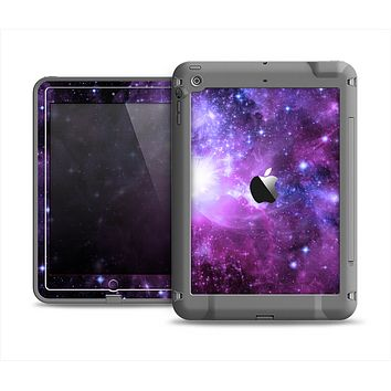 The Purple Space Neon Explosion Apple iPad Air LifeProof Fre Case Skin Set