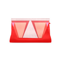 Shades of Red Patchwork Clutch Bag (Model 1630) | ID: D2328136