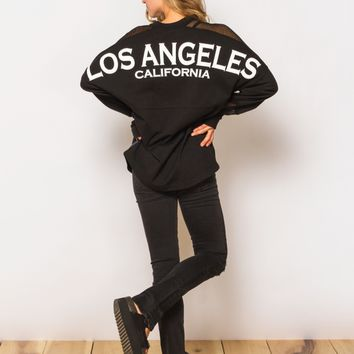 Los Angeles Jersey in Black Mesh by Spirit - ShopKitson.com