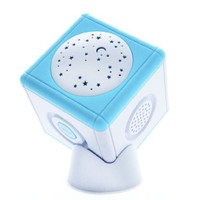 Lullaby Light Cube Soothing Star Projector- Portable Travel Soother and Musical Night Light
