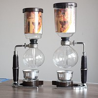 Classic Stainless Steel & Glass Siphon Coffee Maker