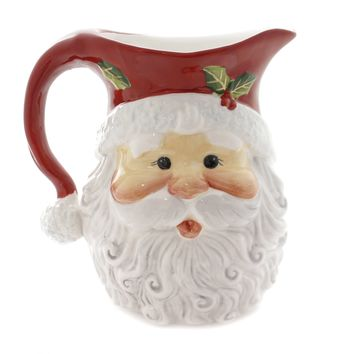 Tabletop SANTA PITCHER Ceramic Laurie Furnell 10636