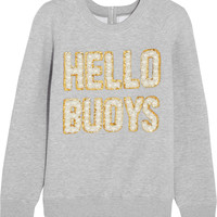 Ashish - Hello Buoys embellished cotton-blend jersey sweatshirt