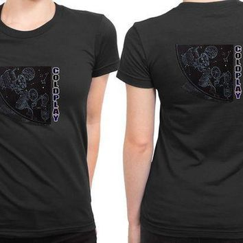 CREYH9S Coldplay Star Two 2 Sided Womens T Shirt