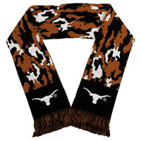 Texas Longhorns Camouflage Scarf - Black/Burnt Orange