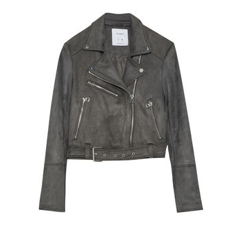 Faux suede biker jacket - Coats and jackets - Clothing - Woman - PULL&BEAR United Kingdom