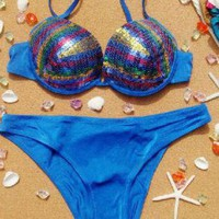 Shinning Sequin Bikini Set