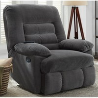 Serta Big & Tall Memory Foam Massage Recliner, Grey - Walmart.com