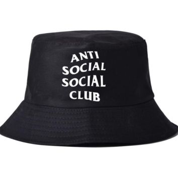 Spring Summer Anti Social Social Club Embroidery Bucket Hat Casual Sport Cap