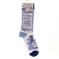 Novelty Socks I Can Not Adult Today Socks Novelty Socks