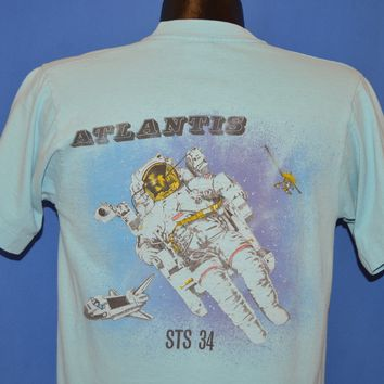 80s Atlantis STS 34 Space Shuttle Astronaut t-shirt Medium