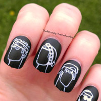 NEW 5SOS Nail Art, 5 Seconds Of Summer False, Fake, Acrylic, Press On, Hand Painted Nails