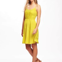 Fit & Flare Pintuck Dress for Women | Old Navy