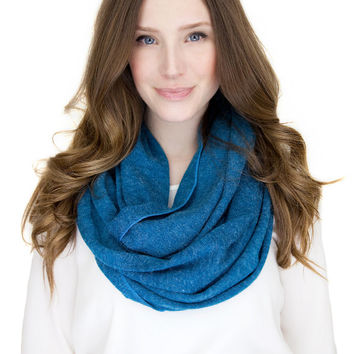TEAL SWEATER KNIT infinity scarf, teal blue infinity scarf scarf, teal soft loop scarf, chunky knit infinity scarf