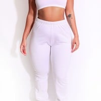 The Curvy Sweat Jogger Pant in White