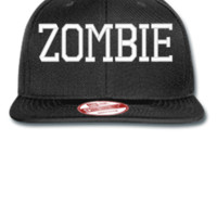ZOMBIE EMBROIDERY HAT - New Era Flat Bill Snapback Cap