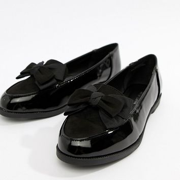 New Look Bow Patent Loafer at asos.com