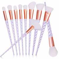 10pcs/set Thread Rainbow Handle Unicorn Makeup brushes Beauty Cosmetics Foundation Blending Blush Make up Brush tool Kit Set