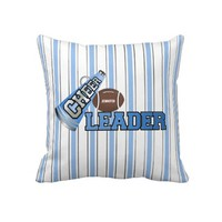 Blue and White Custom Cheerleader Pillow