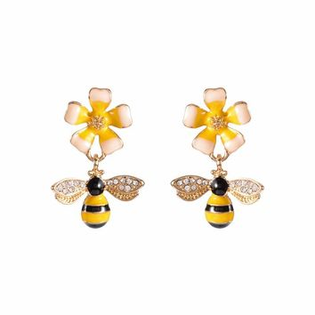 TOLIA - Bumble Bee Dangle Earrings