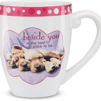 Beside you is the best place to be - Mug